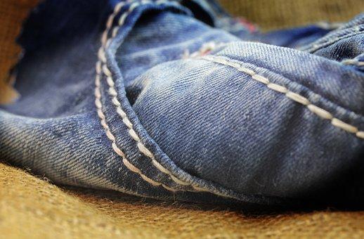 Jeans, Textile, Macro, Denim