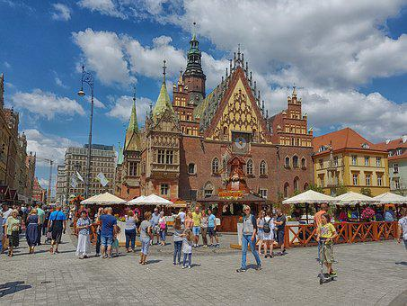 Wrocław, The Market, The Town Hall, View, Architecture