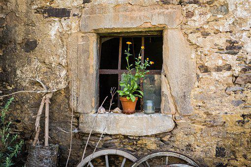 Window, Barn, Stall, Old, Building, House Facade, Wall