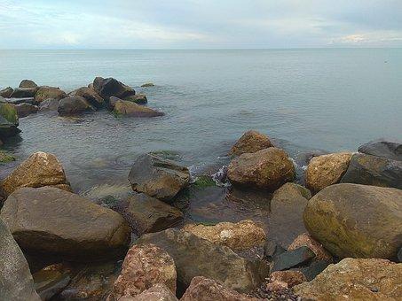 Sea, Stones, Beach, Black Sea, Sea stones, Summer