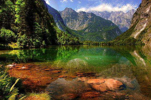 Königssee, Bavaria, Berchtesgaden, Alpine, Mountains