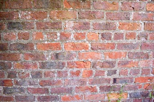 Brick, Red, Old, Wall, Aged, Orange, Brickwork