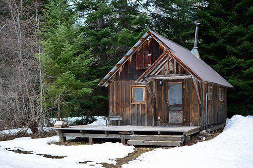 Cabin, Snow, Winter, Cold, Wooden, Cottage, Alpine