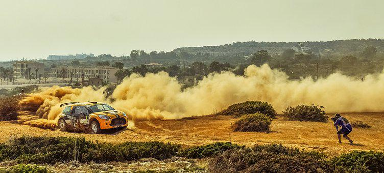 Rally, Car, Photographer, Capture, Action, Race, Speed