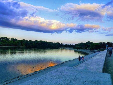 Hdr, Riverside, Cloud, Szentendre, Danube, Boardwalk