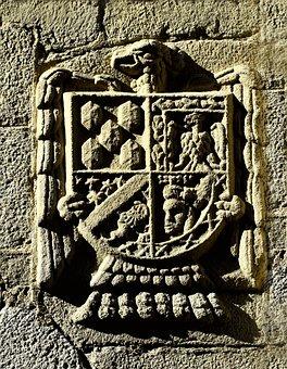 Spain, Avila, Shield, Coat Of Arms, Heraldry, Medieval