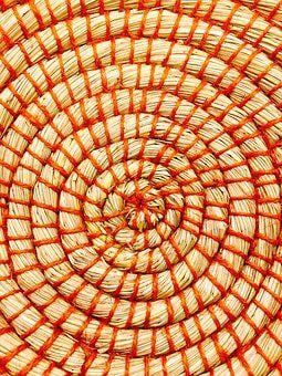 Basket, Weave, Red, Beige, Wicker, Market, Craft, Sell