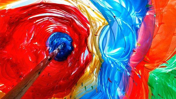 Color, Creative, Light, Bright, Umbrella, Wave, Culture