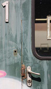 Wagon, Door, First Class, Railway, Obsolete