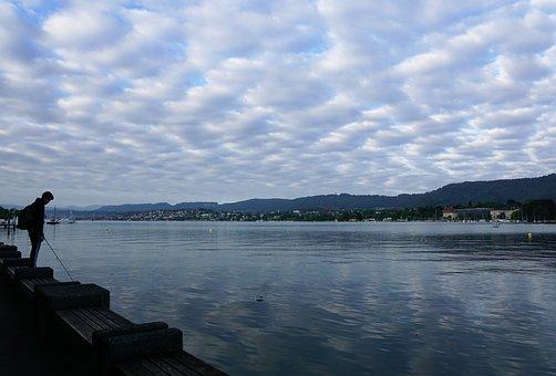 Lake, Switzerland, Europe, Landscape, Idyllic, Spring