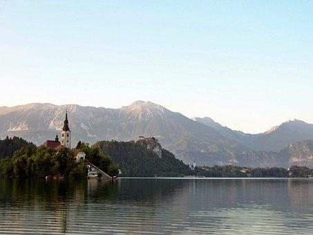 Lake Bled, Chapel, Island, Karawanken, Slovenia