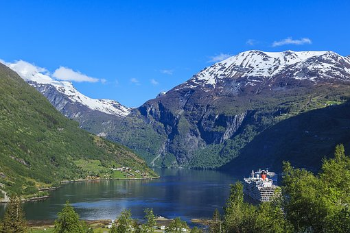 Norway, Geiranger, Fjord, Water, Landscape, Tourism