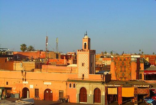 Marrakech, Orient, Morocco, Africa, Historic Center