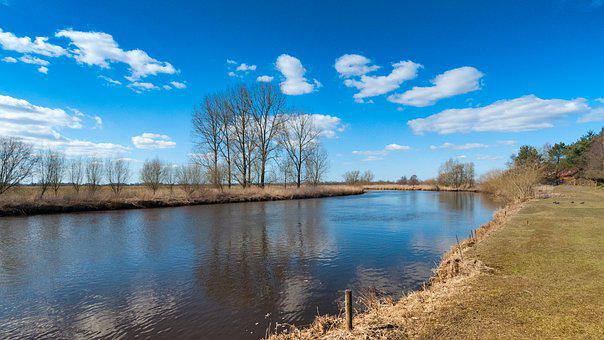 Oste, River, Lower Saxony, Germany, Nature, Green