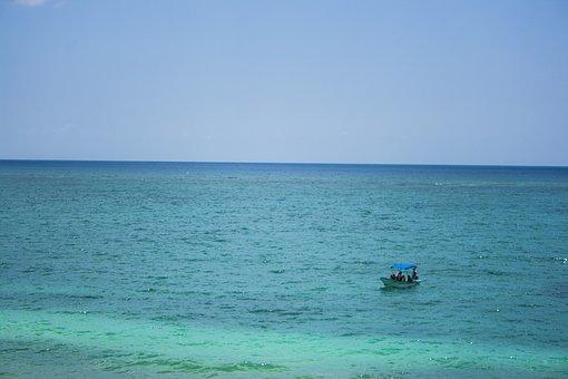 Sea, Beach, Caribbean, Sky, Ocean, Mexico, Landscape