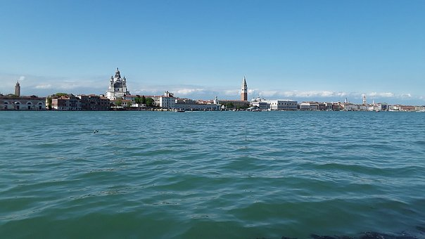 Venice, Sea, Blue Sky, Skyline, View, Canale Grande
