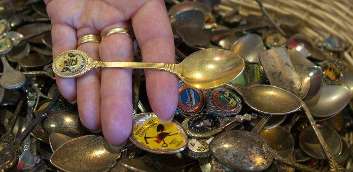 Hand, Rings, Spoons, Decorative Spoons