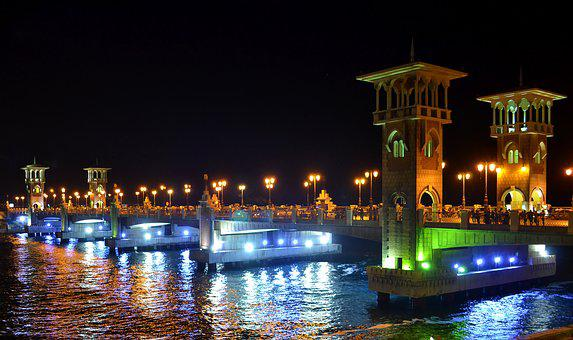 Stanley Bridge, Alexandria, Landmark, Egypt
