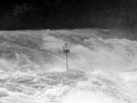 Rhine Falls, Schaffhausen, Waterfall, Water Mass