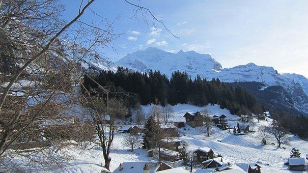 Jungfrau Mountain, January 3 2012, Winter, Wengen