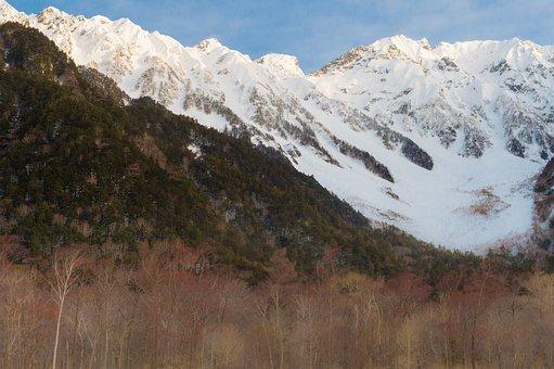 Winter, Kamikochi, Air, The Hida Mountain Range