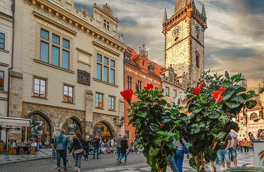 Prague, Astronomical, Clock, Tower, Old, Town, Praha