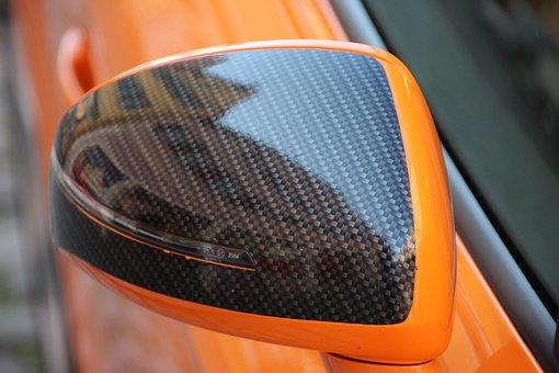 Audi Tt, Mirroring, Rear Mirror, Dinosaur, Old Town
