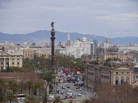 Colon, Barcelona, City View, City Life, City, Spain