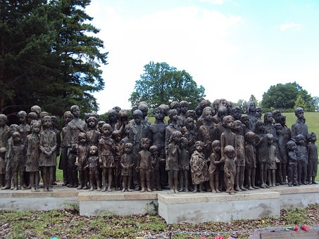 Lidice, Tjechie, Children, War Slagtoffers