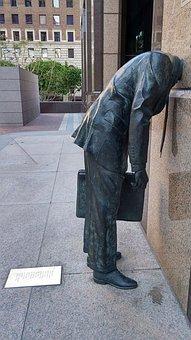 Statue, Business, Man, Sculpture, City, Businessman
