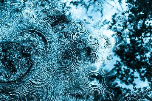 Rain, Drip, Circle, Water, Raindrop, Drop Of Water