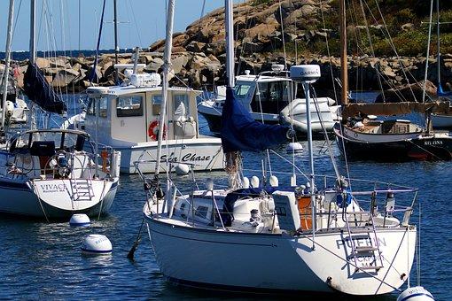 Boats, Rockport Massachusetts, Fishing, Ocean, England