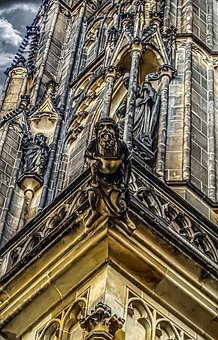 Gargoyle, Prague, Castle, Tourism, Architecture, Spire