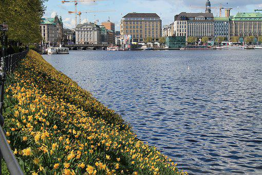 Hamburg, Hanseatic City, Germany, Alster, Binnenalster