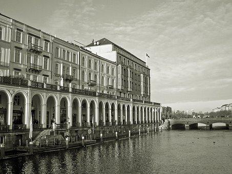 Architecture, Building, Alsterarkaden, Hamburg