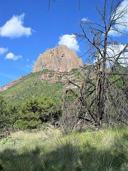 Mountain, Landscape, Sky, Big Bend Texas, Hiking