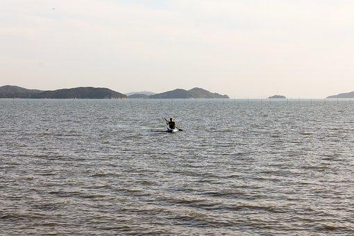 Ocean, Sea, Water, Beach, Boat, Outdoor, Korean, Korea