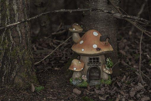Fairy, House, Magical, Mushroom, Forest
