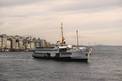 Ship, V, Istanbul, Landscape, Marine, Beach, Townscape