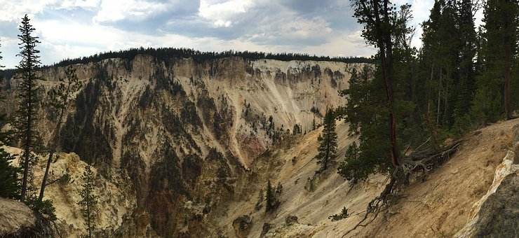 Yellowstone, National, Park, Wyoming, Nature, Landscape