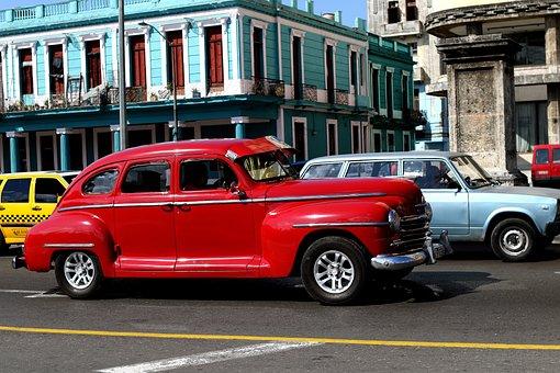 Cuba, Cars, Vintage, Havana, Old, Retro, American