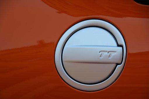 Audi Tt, Fuel Tank Cap, Orange