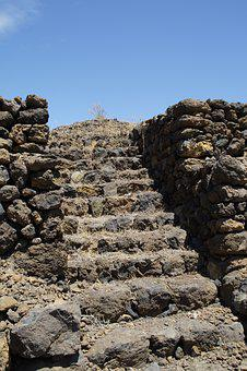 Stairs, Pyramid, Güimar, Stair Pyramid, Renovated