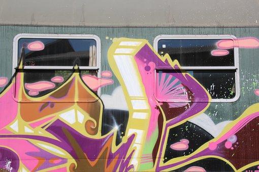 Wagon, Db, Grafitti, Railway