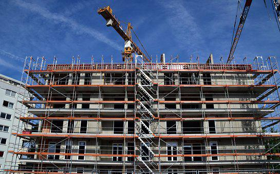 Site, House, Multi-family Home, New Building, Scaffold