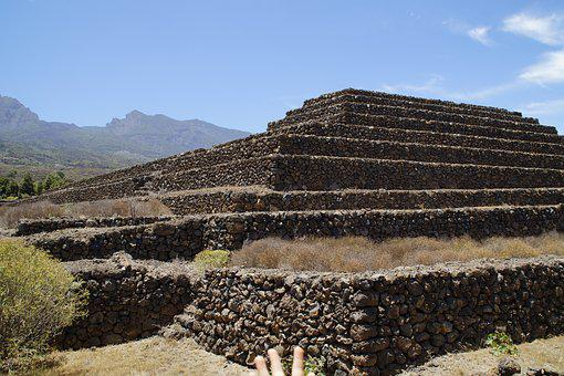 Pyramid, Güimar, Stair Pyramid, Renovated, Tenerife