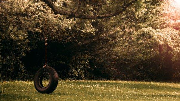 Tireswing, Tire, Swing, Photography, Photoshop