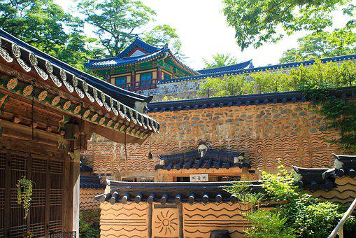Castle, Korean, Traditional, Wall, Ancient