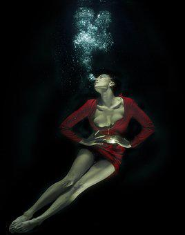 Water, Underwater, Fine Arts, Freedom, Life, Women's