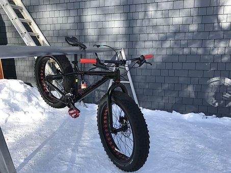 Winter, Bike, Snow, Sports, Bicycle, Biking, Cold